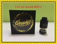 adjustable metal clamps - New Coilart Azeroth RDTA Clone mm diameter Gold plated clamps Adjustable airflow Rebuildable Tank VS Limiless tank SMOK TFV8 Tank