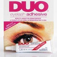 Wholesale DUO WATER PROOF FALSE EYELASH ADHESIVE EYELASH GLUE Dark White Eyelash Adhesive Makeup Tools White Black For False strip lashes