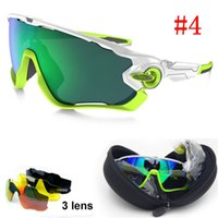 Wholesale 3 Lens UV400 Brand Polarized Jawbreaker Sunglasses For Men Women Sport Cycling Bicycle Mens Sunglasses Sun Glasses cycling eyewear