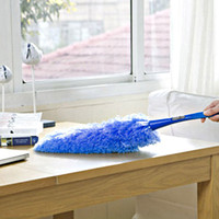 Wholesale Long Soft Microfiber Cleaning Feather Duster Magic Anti Dust Cleaner Handle