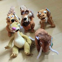 age elephant - 5pcs set Elephant bradypod Squirrels Tiger plush toy Ice Age doll children Christmas gift