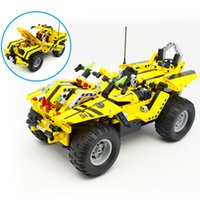 big boy racing - DOUBLE E GHz RC CADA blocks Remote control car Puzzle DIY assembly model car Deformation vehicle Boy racing toy car
