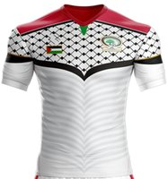 Wholesale 2016 Palestine jerseys top thai quality Football shirts rugby