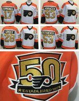 Wholesale Drop ship th Anniversary Philadelphia Flyers Hockey Jerseys Claude Giroux Voracek Simmonds Shayne Gostisbehere