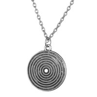 antique archery - Antique Silver Target Round Disc Necklace Archery Gift Archery Pendant Unisex Jewelry