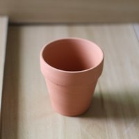 Wholesale 6 cm Classic Red Ceramic Medium High Planter Pottery Ceramic Flower Pot Planter Succulents Made In China