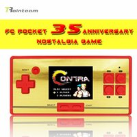 Wholesale Pocket anniversary nostalgia children s handheld game player screen consolretro Red White Classic TV Game support double play
