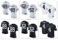 active mens - Oakland Elite Mens Jerseys Raiders Derek Carr Khalil Mack Amari Cooper Charles Woodson white black rugby shirts
