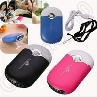 air blowing machine - Handheld USB Mini Bladeless fan Portable Rechargeable Battery Air Conditioner Cooler Planting false eyelashes blow drying machine LJJO57