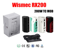 Wholesale Authentic Joyetech Wismec Reuleaux RX200 TC Mod mod Powered Chip Wismec RX200 vs Wismec Reuleaux DNA200 Evic VTC cuboid Mini kit