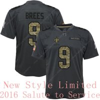 admiral shipping - Drop Shipping Limited Saints Drew Brees Black Admiral Salute To Service Stitched Embroidery Logos Brand America Football Jerseys Uniforms