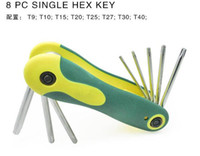 Wholesale Folding inner six angle wrench set of inch folding inner six angle wrench Kit