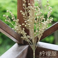 acacia powder - European flower dried flowers in the vase of gold and silver color flower beads rich fruit fruit Acacia leaf powder decorations