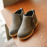 Wholesale Kids fashion zipper Chelsea Boots Kids fashion simple ankle boots colors sizes for kids and adult
