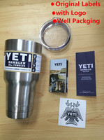 beer labels - With Original Logo Label YETI Tumbler Rambler Cups Sports Cars Beer Coffee Mugs Insualted Cup Double Wall Vacuum