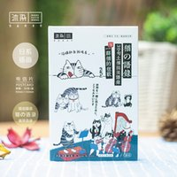 Wholesale pack Happy Life of Cats Greeting Card Postcard Birthday Gift Card Set Message Card Letter Envelope Gift Card