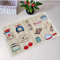 Wholesale simple style mat Non slip mats carpet mats Korean carpet mats doormat kitchen D100004