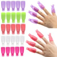 Wholesale x Bowknot Plastic Nail Art Soak Off Clip Cap UV Gel Polish Remover Wrap Tool TXO