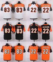 andy black - 2016 New Elite Mens Bengals Jerseys Andy Dalton A J Green William Jackson III Tyler Boyd Black Free Drop Shipping