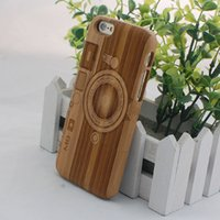 bamboo camera iphone case - Camera Design For iphone hard bamboo cases the orginal wood cell phone cover for iphone s plus dhl free