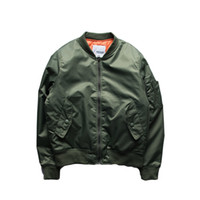 air uniforms - Fall New Hip Hop Air Force Pilot Jacket Solid Color Big Yards Baseball Uniform Jacket Couple Varsity College Bomber Jacket Men
