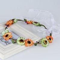Wholesale Fashion hair Accessories wreath wedding hair jewelry crown garlands head flower Silk Flowers wreaths party Beach artificial flowers