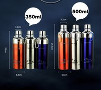 Wholesale DHL Stainless Steel Water Bottle Vacuum Insulated Bullet Shape ML ML Outdoor Sports Camping Hiking Cycling Cups VS Hydro Flask