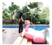 Wholesale 1 M Giant Swan Inflatable Flamingo Float The Cherry Blossom Pink Swimming Ring Raft swimming pool toys For Adult