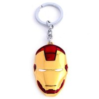 Wholesale Super Hero The Avengers Captain America Iron Man Marvel Keychain Metal Key Chain Keyring Classic Pendant Key Ring Accessories Gift
