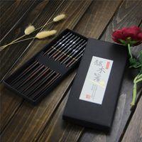 Wholesale 5 pais set High Quality Aoosy Wood Chopsticks Tableware Flower Nail Printing Flower Couple Gift Chopsticks