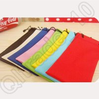 Wholesale 4000pcs LJJC4129 High Quality Candy Color Waterproof Leather Plastic Sunglasses Pouch Soft Eyeglasses Bag Glasses Phone Drawstring Case