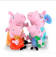 Cheap hot new Lovely Pig plush toys Pigs Dolls 30CM Cartoon Stuffed Plush Toy Peppa Stuffed Animals Plush Toys Free shipping Birthday gift