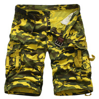 Wholesale New Summer Cotton Camouflage Military Cargo Shorts Men Camo Army Multi Pockets Shorts Masculino Loose pantalones cortos Red