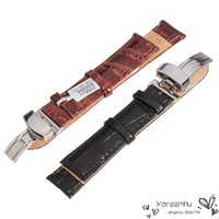 Wholesale 2016 Top Fashion Limited Men Women mm Leather Bracelet Watch Strap Watchband Stainless Fold Buckle Clasp Colors Black Brown
