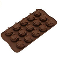 Wholesale Silicone Molds For Chocolates - 15-cavity Cute Pig Emotion chocolate Cake Mold Silicone Soap Mold For Handmade Soap Candle Candy bakeware baking molds ice molds