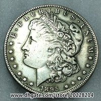 antique replicas - 1895 O US Morgan Silver Dollar replica high quality g mm Brass plated with silver