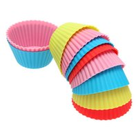 Wholesale 7cm Silica Gel Liners Baking Mold Silicone Muffin Cup Baking Cups Cake Cups Cupcake Colors