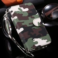 Wholesale S5 Design Army Camouflage Camo Leather Wallet Case for Samsung Galaxy S5 i9600 Fashion Phone Cover with Card Slot for Galaxy S5