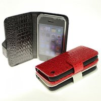 Wholesale Apple Crocodile Wallet mobile phone protective sleeve turn around iPhone3 card mobile phone shell leather coat