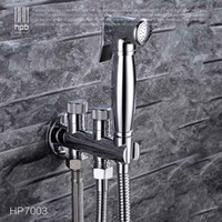 Wholesale Han Pai Brass Bathroom Bidet Faucet Toilet Portable Spray With Shower Holder Handheld Bidet grifo ducha HP7003