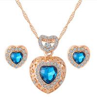 handmade costume jewelry - African china Costume Jewelry Set k Gold Full Jewelry Sets Glass Handmade jewelry Heart Stone Jewelry Sets