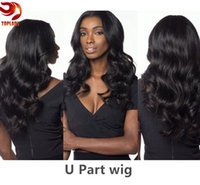 Wholesale 7A Grade U Part Human Hair Wigs For Black Women Unprocessed Brazilian Human Hair Wig Density Middle Opening inch