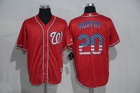 best national flags - New Washington Nationals USA FLAG Styke Jersey Mens Daniel Murphy Red Cool Base Baseball Jersey Accept Mixed Orders Best Quality