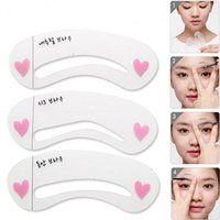 Wholesale South Korea threading card thrush A word eyebrow aid beauty makeup tools plastic threading card DHU003