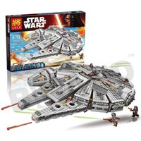 Wholesale 1381pcs Star Wars The Force Awakens Millennium Falcon Figure Toys Building blocks marvel minifigures Kids Bricks Toy legoe compatible Z90