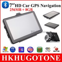Wholesale 7 quot HD Bluetooth Car GPS Navigation Bluetooth AVIN MHZ RAM256 WinCE FM E book Game MP4 GB GB Maps