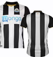 Wholesale 2017 Newcastle United Soccer Jersey Newcastle Home Soccer Jerseys Home Black White Football Shirts Thai Quality Jeresys