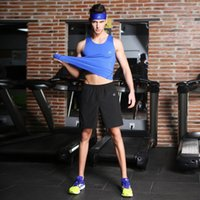 Wholesale Men s Gym Clothes Breathable Stretch Fitness Quick Drying Vest Shorts Suit