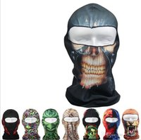 Wholesale 38 Designs Ghost D Thin Outdoor Cycling Bicycle Balaclava Full Face Mask Hat Motorcycle Cs mask Motorcycle Helmets
