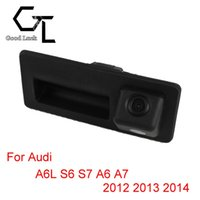 Wholesale For Audi A6L S6 S7 A6 A7 trunk handle Wireless Car Auto Reverse Backup CCD HD Night Vision Rear View Camera